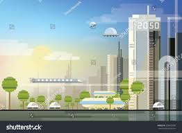 Urban Modern Design by Modern Abstract Futuristic Urban Cityscape Trendy Stock Vector