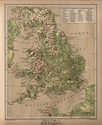 Maps Of England by Physical Map Of England David Rumsey Historical Map Collection