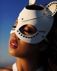 white halloween mask mask white leather mask white cat mask white harness cat