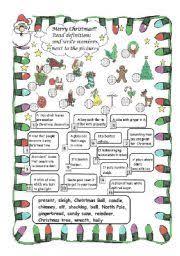 esl worksheets for beginners christmas riddles