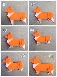 Paper Craft Steps - corgi steps corgi origami and corgis