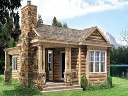 Cabin Designs And Floor Plans Stone Cabin Designs Exterior Rustic With Porch Columns Log Cabin