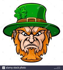 tough cartoon leprechaun st patricks day character or sports