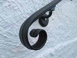 Wrought Iron Banister Rails 8 Ft Wrought Iron Hand Rail Wall Rail Stair Step Railing Wall