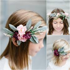 flower girl headbands flower floral headband chicago wedding photographer