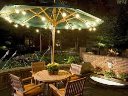 Patio Set With Umbrella by Patio Table Umbrella With Light U2014 All Home Design Ideas