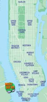 manhattan neighborhoods map york city attractions map location maps of must see nyc