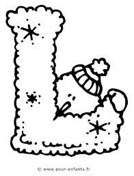 les lettres de l u0027alphabet la lettre l dessin à imprimer pour