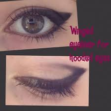 i love this technique for winged eyeliner on hooded eyes