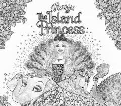 barbie island princess coloring pages coloring