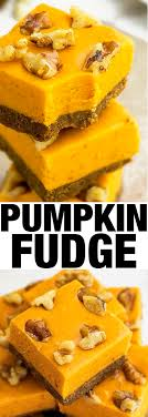 and easy pumpkin fudge recipe with gingersnap crust and