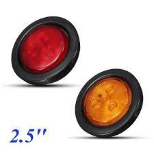 led side marker lights for trucks 4led red amber led clearence truck bus trailer round side marker
