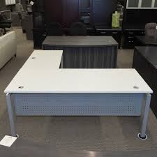 Used L Shaped Desk Used Clear Design Right L Shaped Desk White Del1518 001 Office