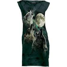 three wolf moon t shirt mini dress clothingmonster com