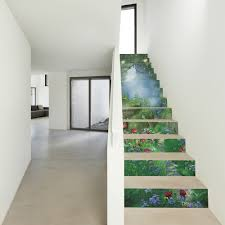13 pieces set creative diy 3d stairway stickers magic forest