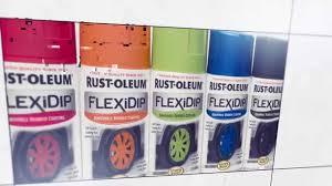 rust oleum flexidip removable rubber coating available in new