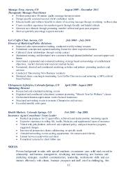 Massage Therapy Resume Samples by Lndoucetteportfolio