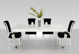 rectangle white lacquer low dining table with square legs and