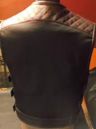 biker vest handmade biker vest cordura leather impregnated motorcycle vest