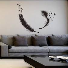 feather wall decal tribal decor sticker bird simple birdcages