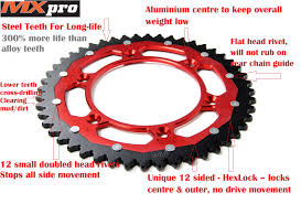 ktm 65 sx sprockets rear dual drive mx pro