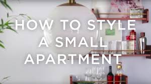 how to decorate a small apartment west elm youtube