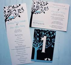 invitation design programs carolina blue and navy birds in a tree wedding invitations