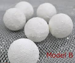 white ornaments tree snowballs decoration