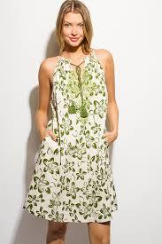 shop beige linen blend green floral print embroidered pocketed