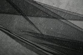 glitter tulle glitter tulle black silver showtime fabrics