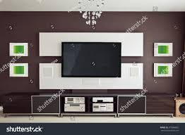 modern home theater room interior flat stock photo 275986802