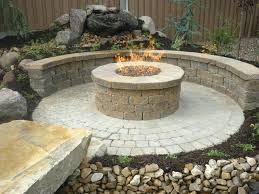 Stone Patio With Fire Pit Patio Ideas Cost To Build Patio And Firepit Stone Patio Fire Pit