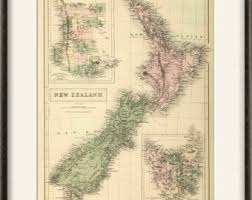 Map Home Decor New Zealand Map Etsy