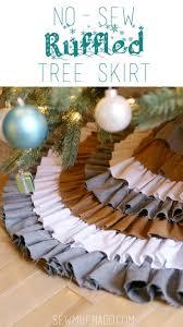 diy no sew ruffled tree skirt shabby chic christmas tree skirts