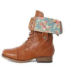 sweater lined foldover combat boots womens fold floral combat from shoemaven26 on ebay