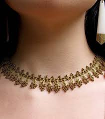 crochet jewelry necklace images Gold stands silk crochet necklace fair trade handmade high 5 jpg