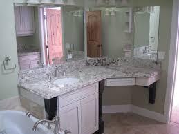 Corner Vanity Desk by Bathroom Brown Lacquer Pine Wood Bathroom Make Up Vanity Table