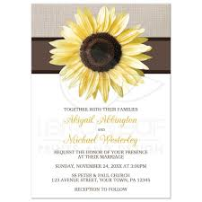 Reunion Invitation Card Templates Invitations Rustic Sunflower Linen And White
