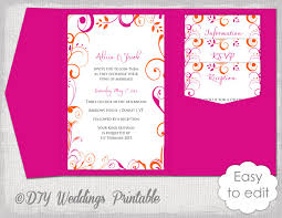 wedding invitation pocket envelopes designs free diy pocket wedding invitation templates as well as