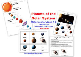 free planets of the solar system worksheets homeschool den
