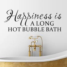 online get cheap bath wall decal aliexpress com alibaba group new happiness is a long hot bubble bath quotes pvc wall sticker for living room bath