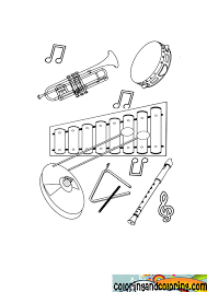 musical instrument coloring pages coloring free coloring pages
