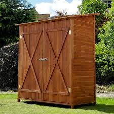 homcom garden shed storage cabinet double door aosom co uk