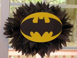 Batman Baby Shower Decorations Superhero Tissue Paper Pompom Kit By Theshowerplanner On Etsy