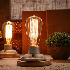 Filament Bulb Desk Lamp Aliexpress Com Buy Retro Lamp St64 Vintage Edison Bulb E27
