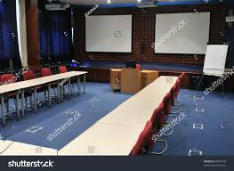 video conference room chairs big board stock photo 36481108