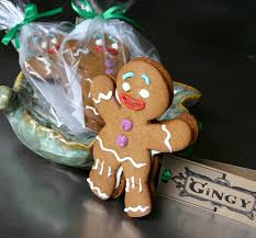 gingy cookies shrek style gingerbread man vanilla