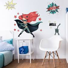 Wall Stickers Cats Wall Stickers Super Heros Red And Cat