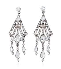 chandelier earings ben amun bridal gatsby chandelier earrings 30070213p