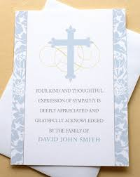 or religious cards with a blue cross thank